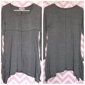 Pretty Angel Gray Asymmetrical Hem Top Size S